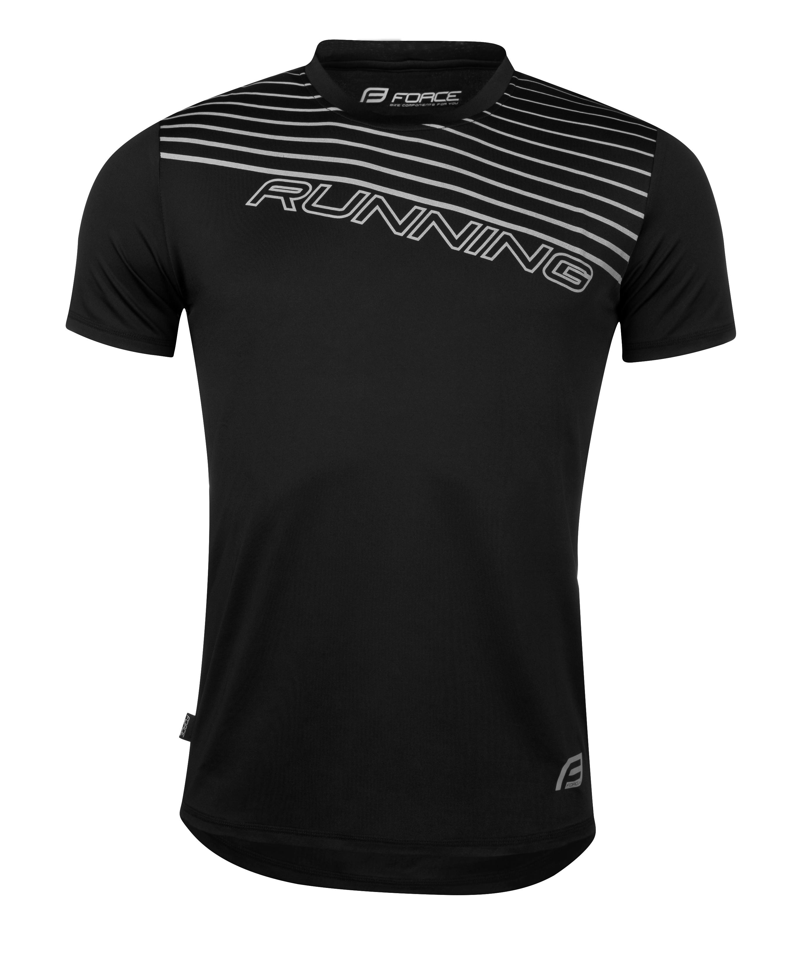 triko běžecké FORCE RUNNING, černé XXL