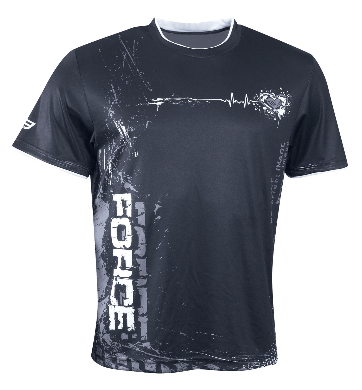 triko FORCE ART krátký rukáv, černo-bílé S