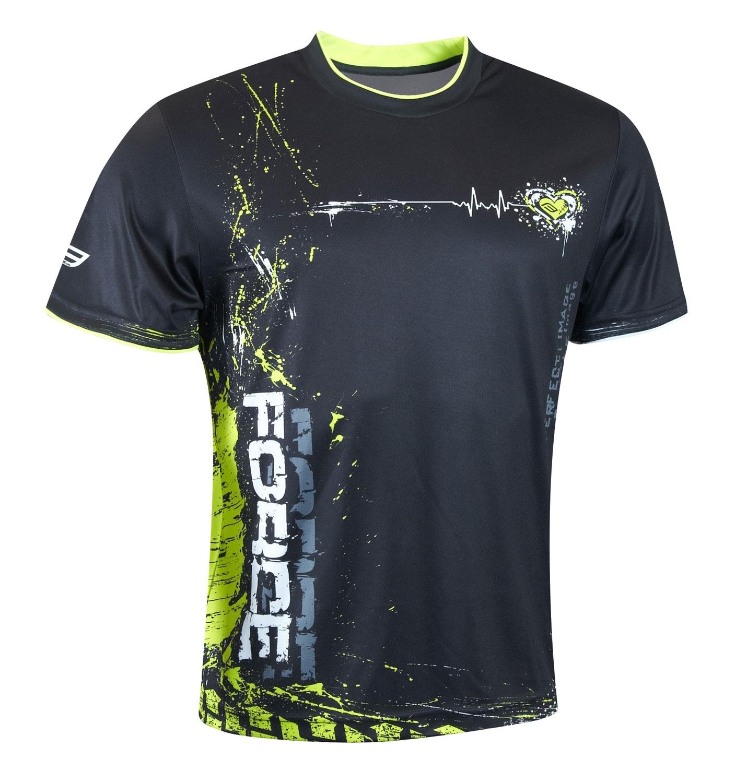 tričko FORCE ART černo-fluo