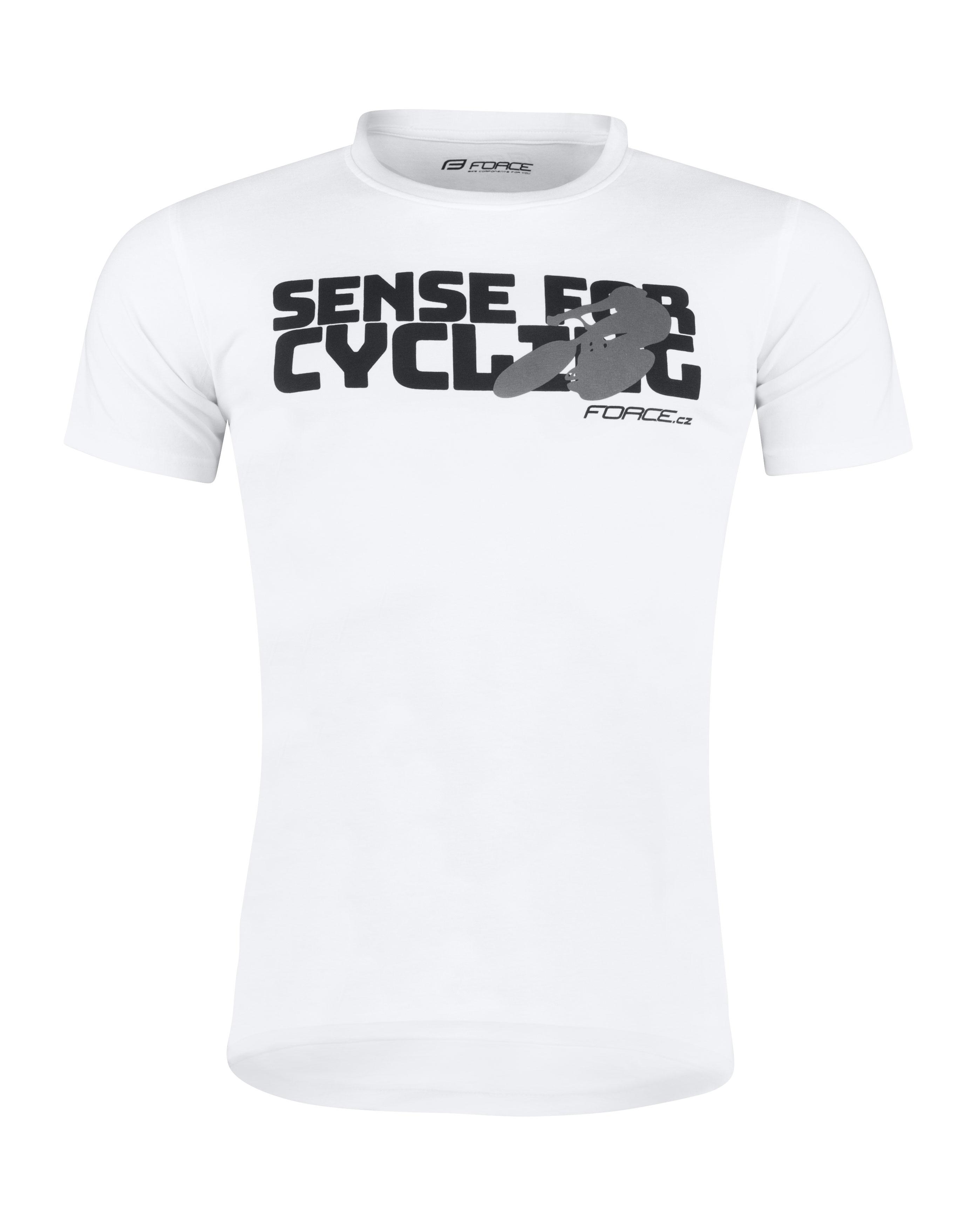 triko FORCE SENSE krátký rukáv, bílé XL