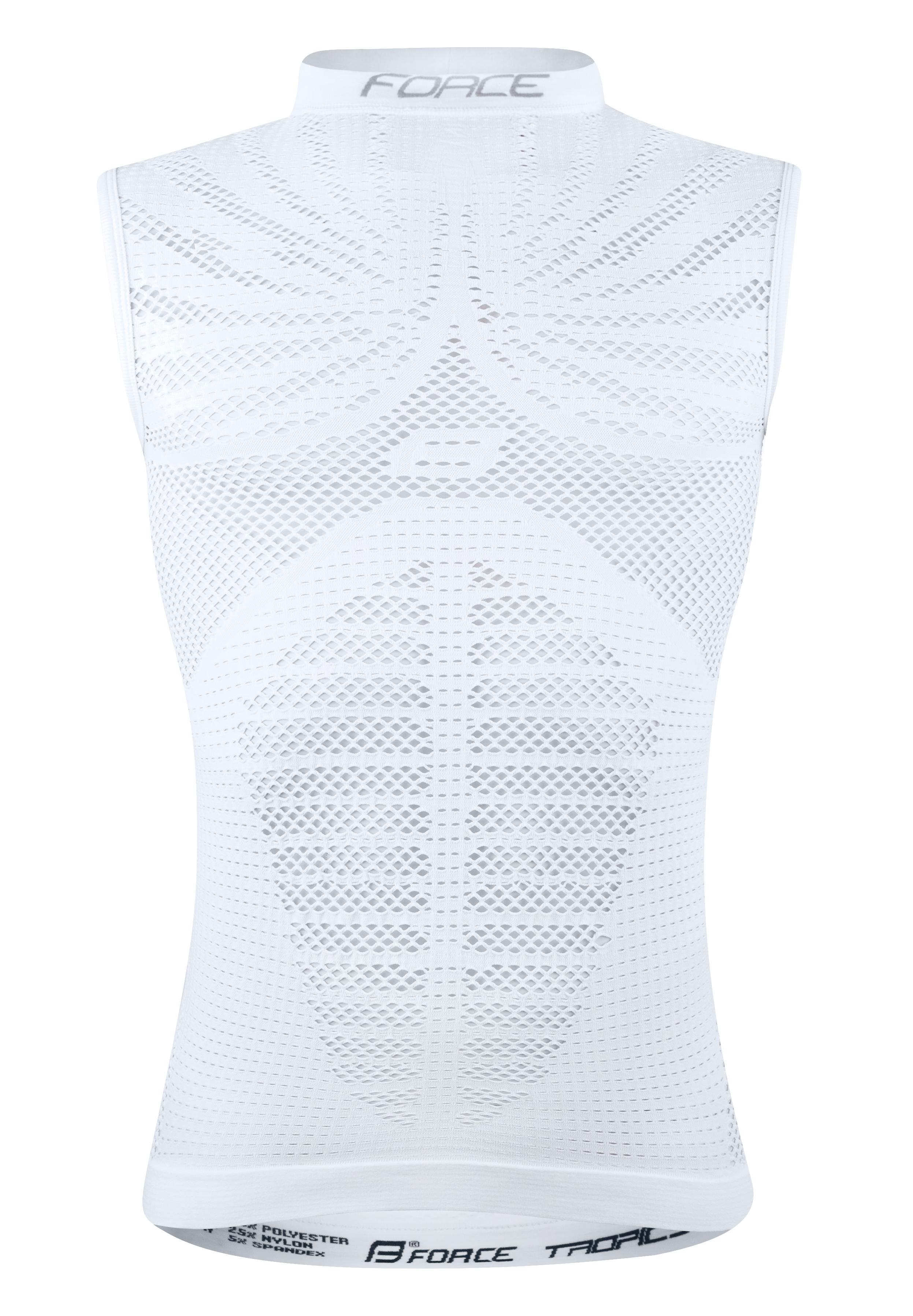 triko/funkční prádlo F TROPIC bez rukávů,bílé S-M