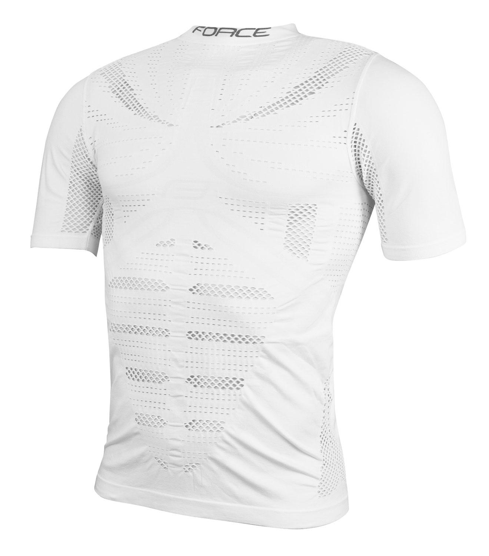 triko/funkční prádlo F WIND krátký rukáv,bílé S-M