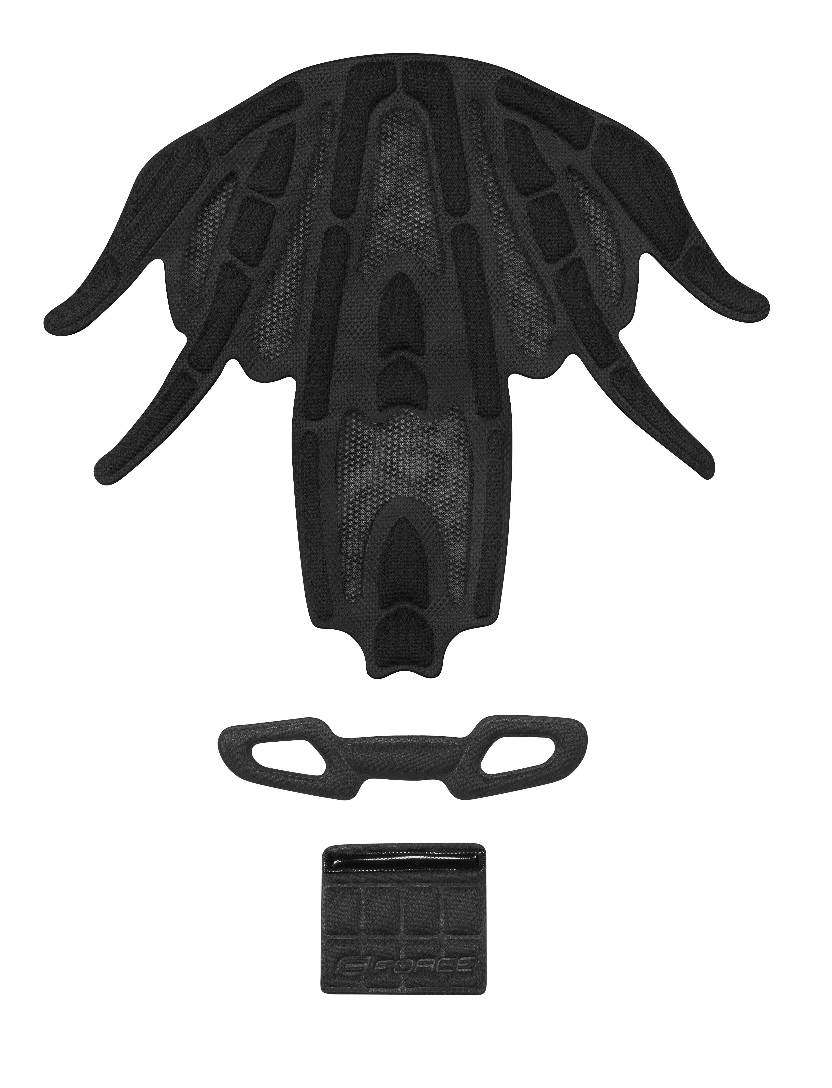 výstelka přilby FORCE REX, černá UNI