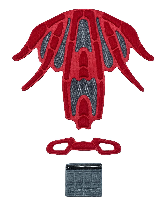 výstelka přilby FORCE REX, červená UNI