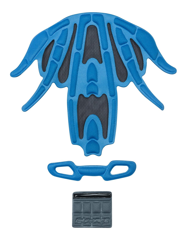 výstelka přilby FORCE REX, modrá UNI