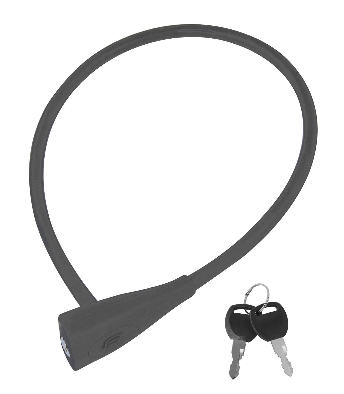 zámek F klíčkový silikon.bez držáku 65cm/10mm,šedý