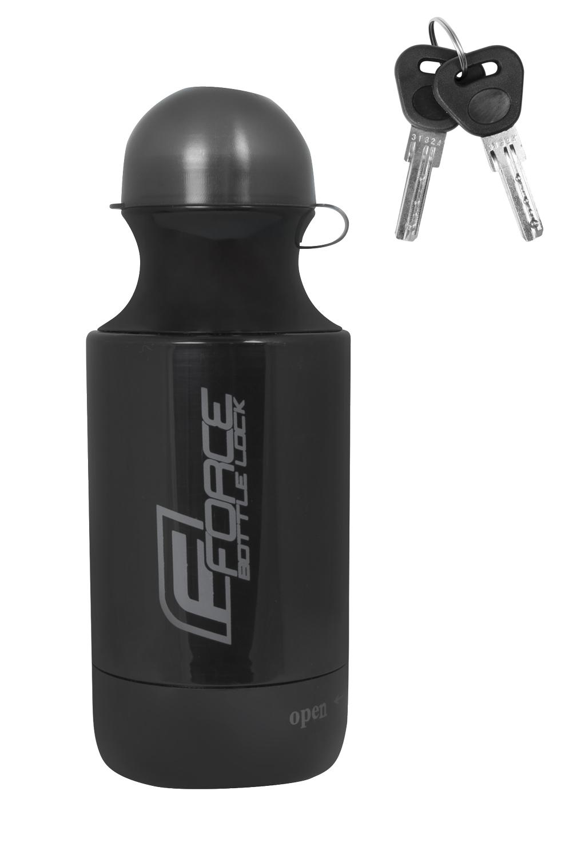 zámek v láhvi FORCE BOTTLE LOCK 150cm/7mm, černý