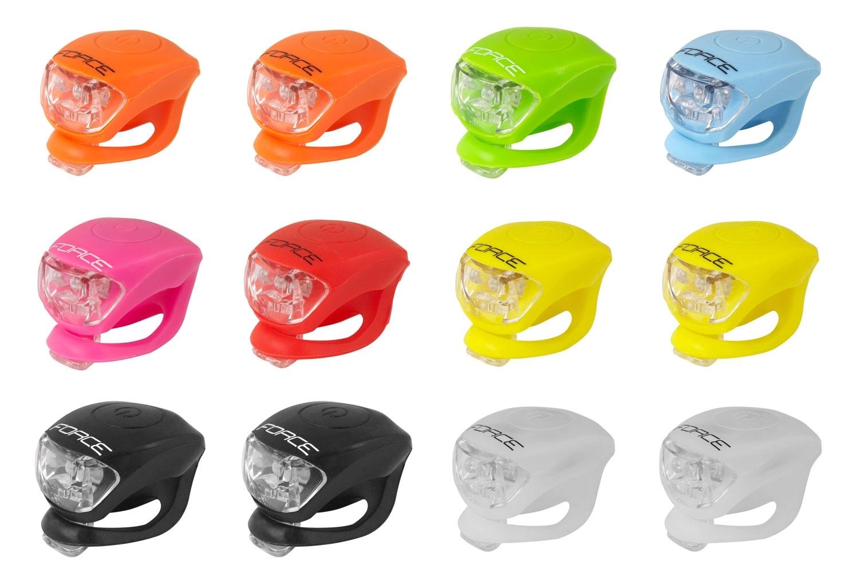 blikačky sada F DOUBLE přední 12 ks, mix barev