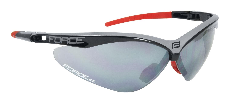 brýle FORCE AIR černo-šedé, černá laser skla