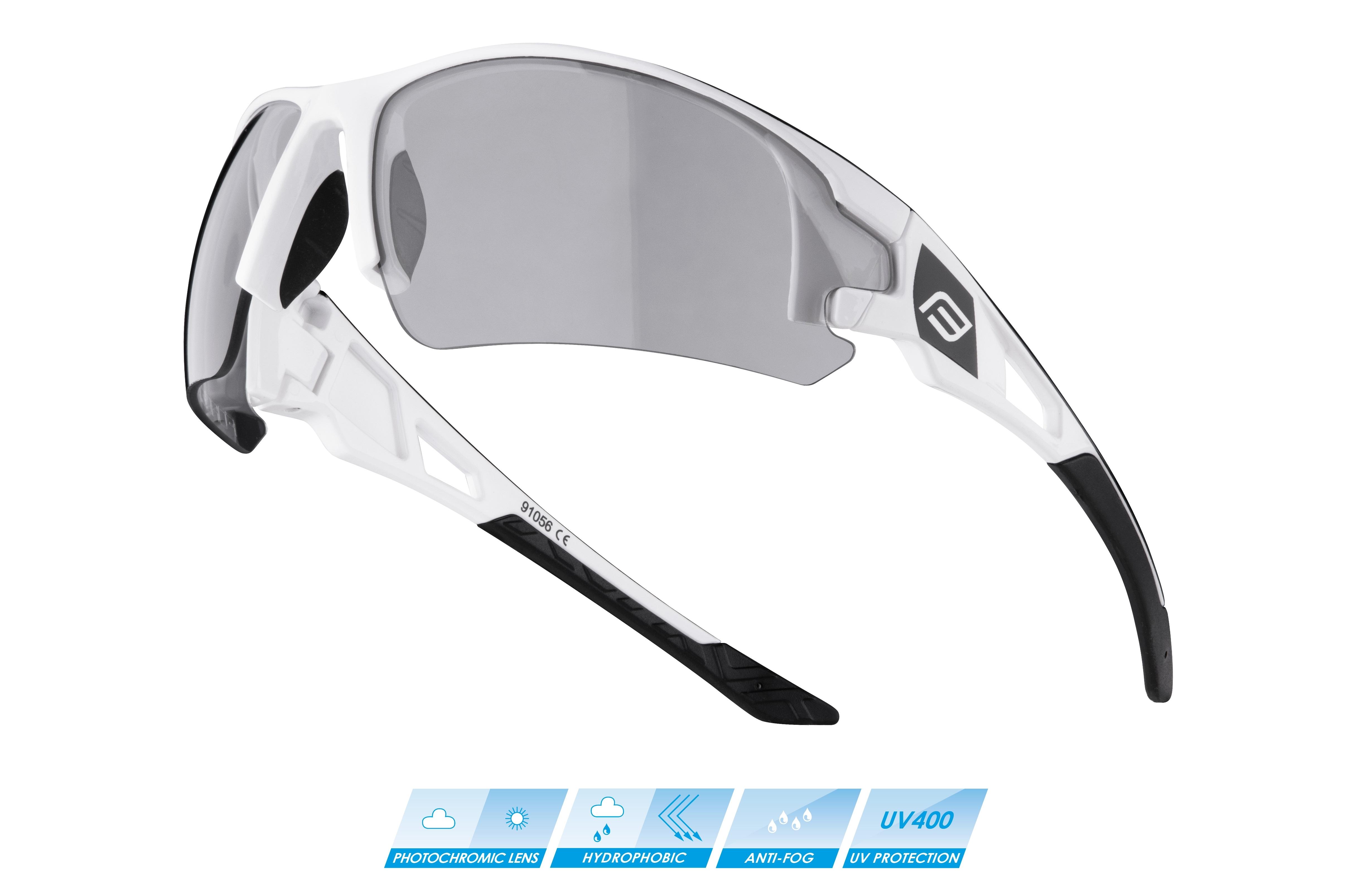 brýle FORCE CALIBRE, bílé, fotochromatická skla