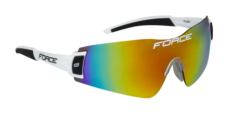 brýle FORCE FLASH, bílo-černé,červené laser skla