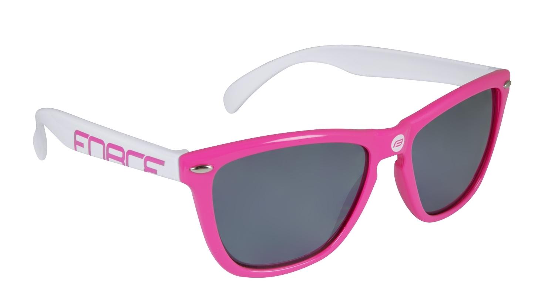 brýle FORCE FREE růžovo-bílé, černá laser skla