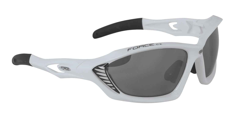 brýle FORCE MAX bílé, černá laser skla