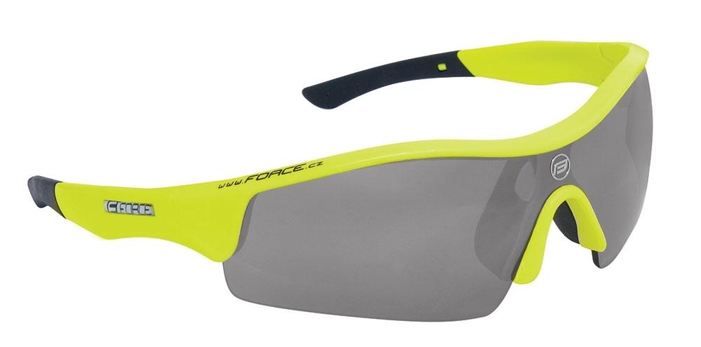 brýle FORCE RACE fluo, černá laser skla-AKCE