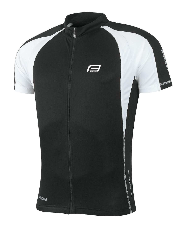 dres FORCE T10 krátký rukáv, černo-bílý XS