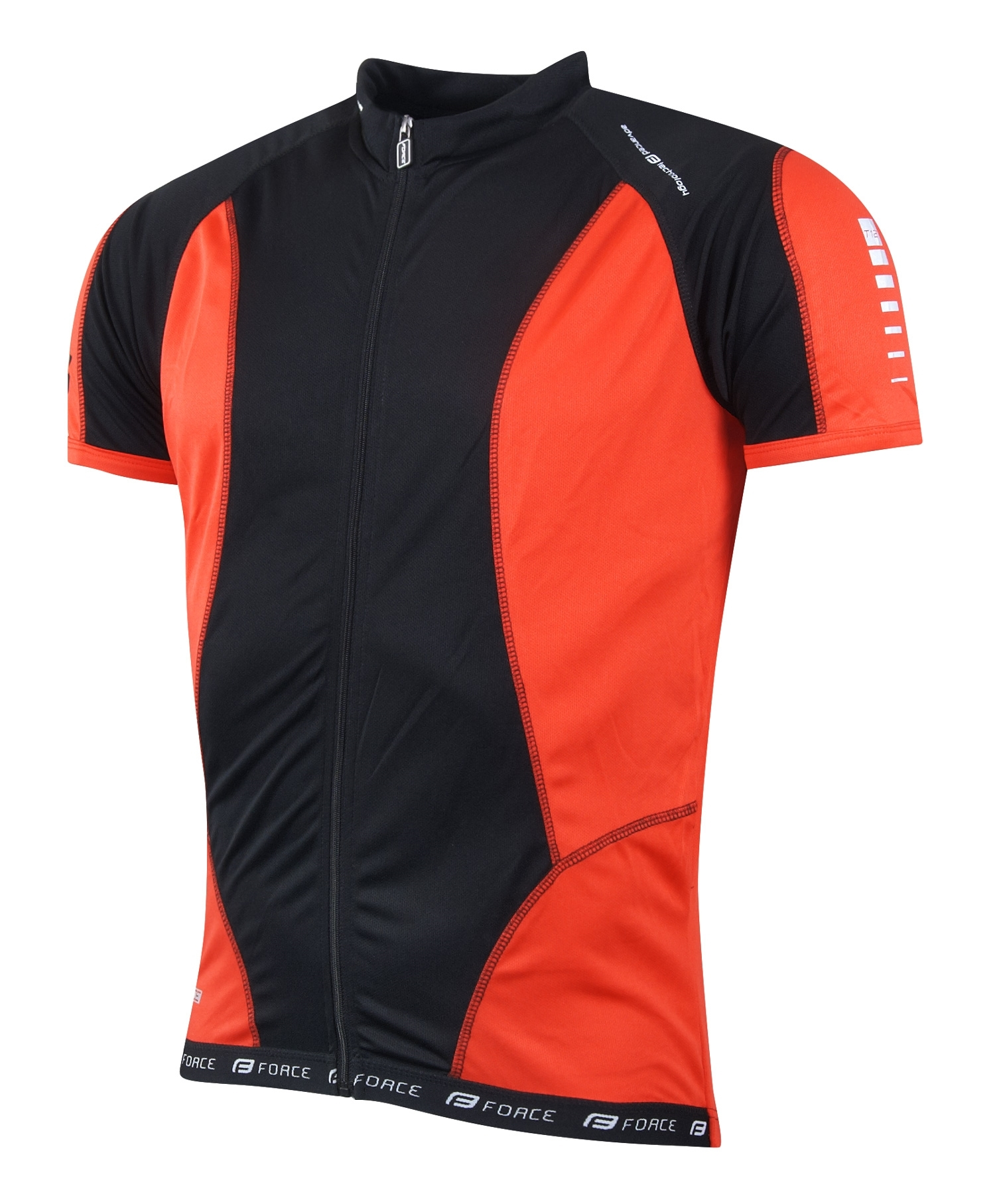dres FORCE T12 krátký rukáv černo-červený XS