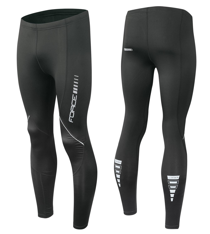 kalhoty FORCE Z68 do pasu bez vložky, černé XS