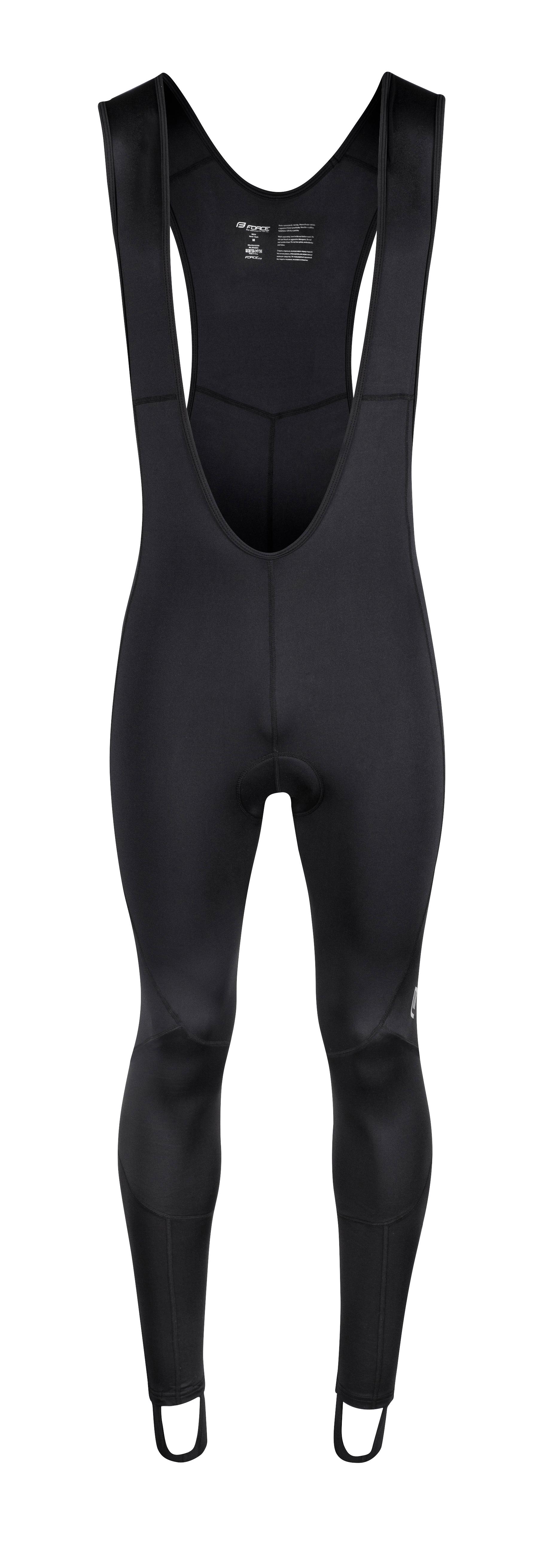 kalhoty FORCE Z68 se šráky a vložkou, černé L