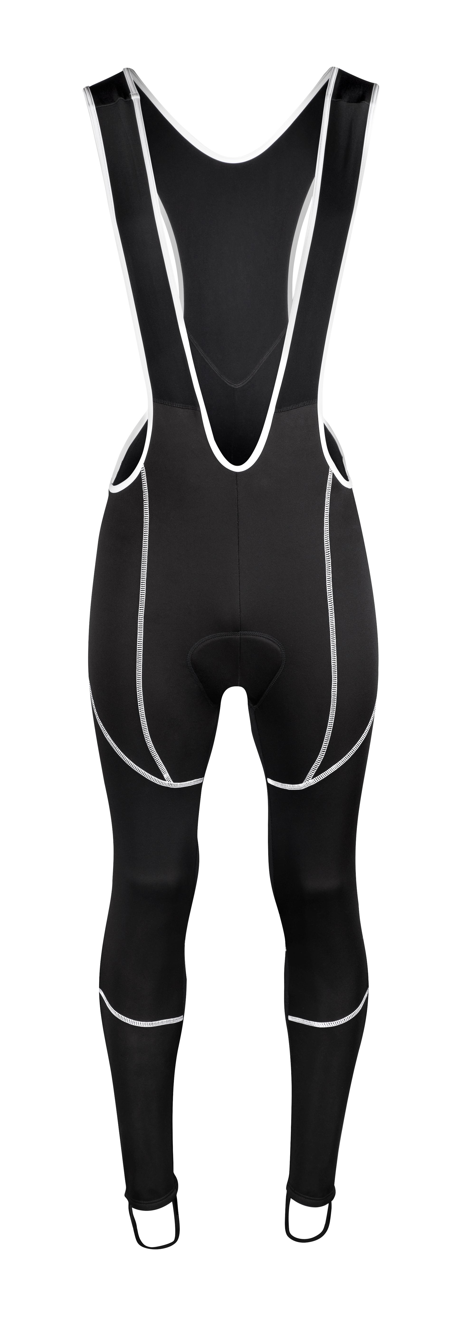 kalhoty FORCE Z70 se šráky s vložkou, černé XXL