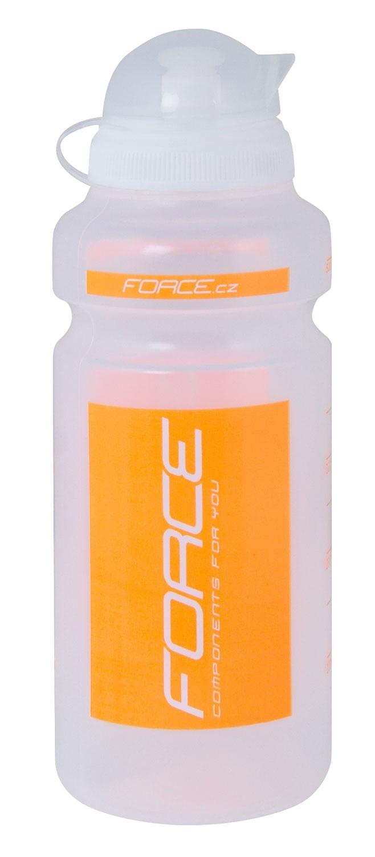 """láhev FORCE """"F"""" 0,5 l, čirá/oranžový potisk"""