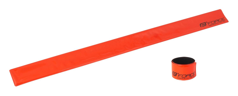 pásek reflex FORCE samonavíjecí 38 cm, oranžový