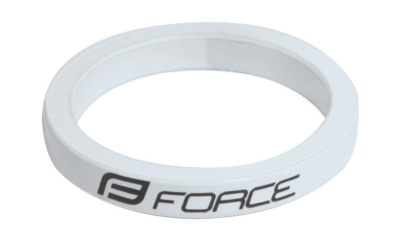 """podložka FORCE 1 1/8"""" AHEAD 5 mm Al, bílá"""