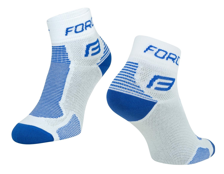 ponožky FORCE 1, bílo-modré L-XL