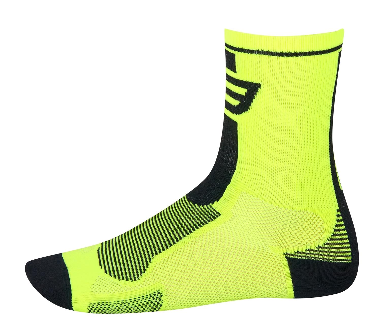 ponožky FORCE LONG, fluo-černé