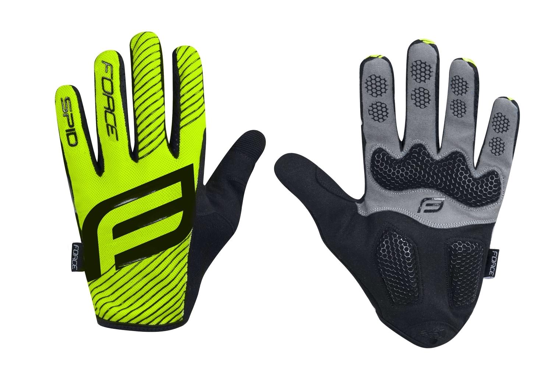 rukavice F MTB SPID 17 letní bez zapínání, fluo L