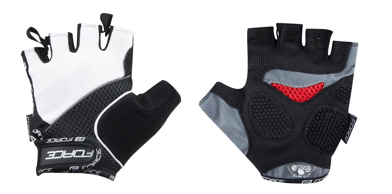 rukavice FORCE AMARA gel, bílé S