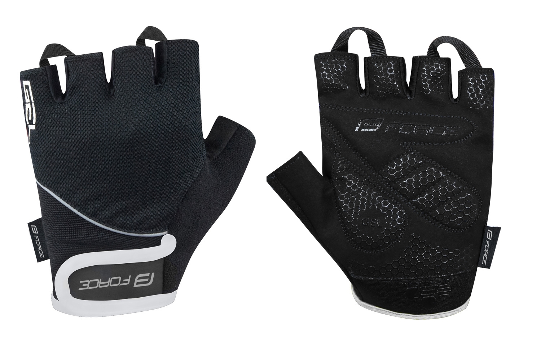 rukavice FORCE GEL 17, černé XL