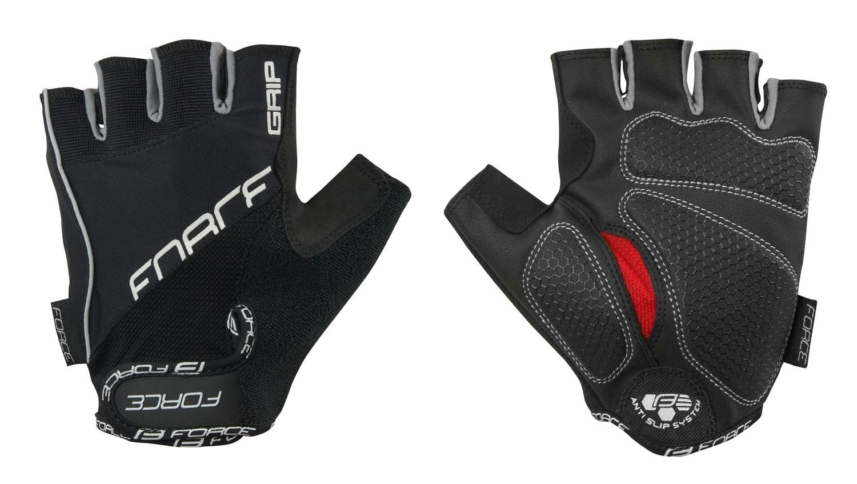rukavice FORCE GRIP gel, černé XXL
