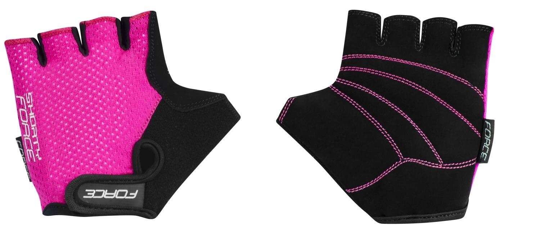 rukavice FORCE SHORTY dětské, růžové XL