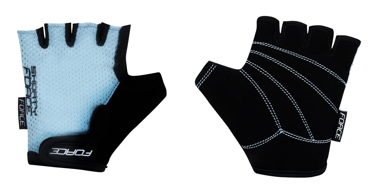 rukavice FORCE SHORTY dětské, světle modré XL