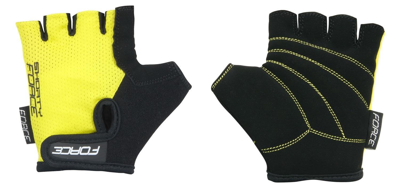 rukavice FORCE SHORTY dětské, žluté S