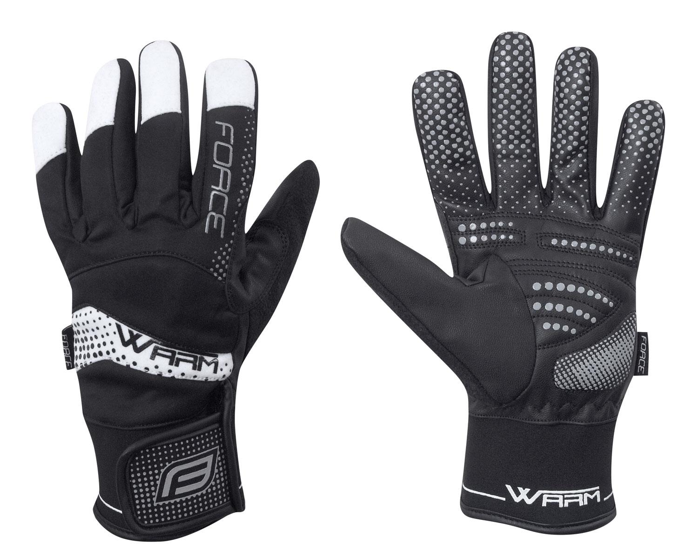 rukavice zimní FORCE WARM 18, černé XL
