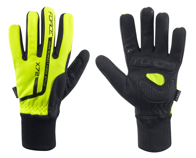 rukavice zimní FORCE X72, fluo