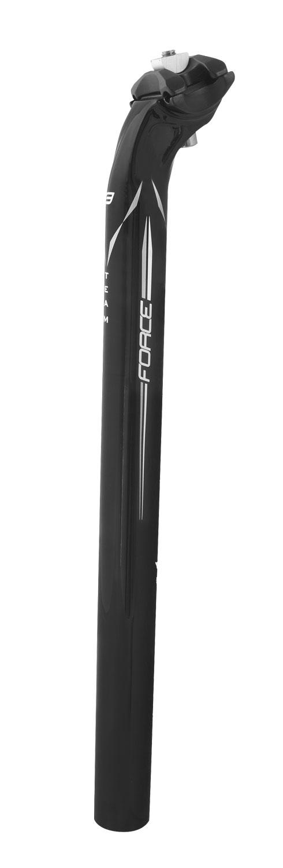 sedlovka F TEAM karbon 27,2/400mm, lesklá černá