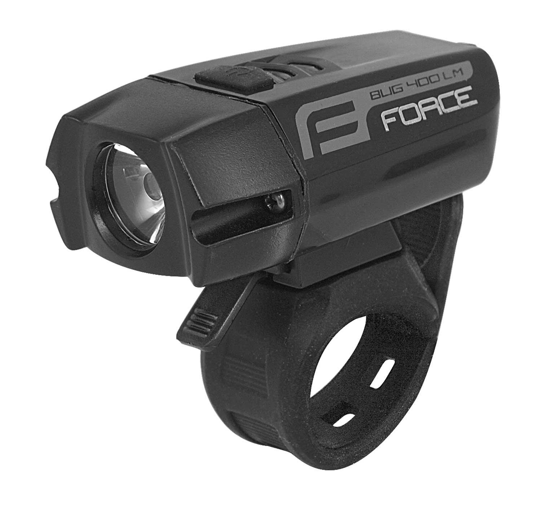světlo přední FORCE BUG-400  USB černé