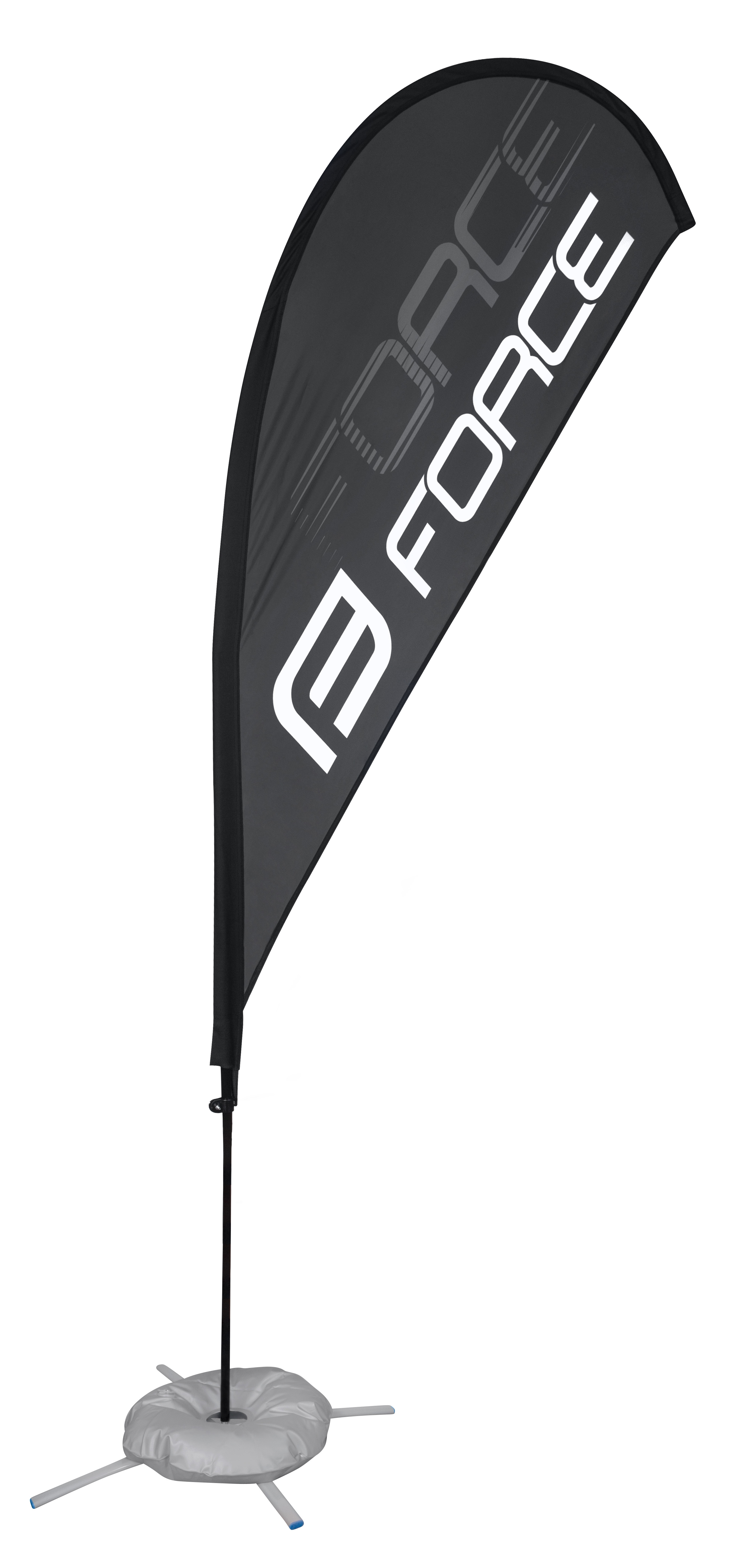 vlajka - prapor FORCE - nápis F FORCE