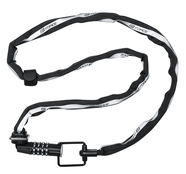 zámek FORCE MULTI kódový 120cm/4mm, černý