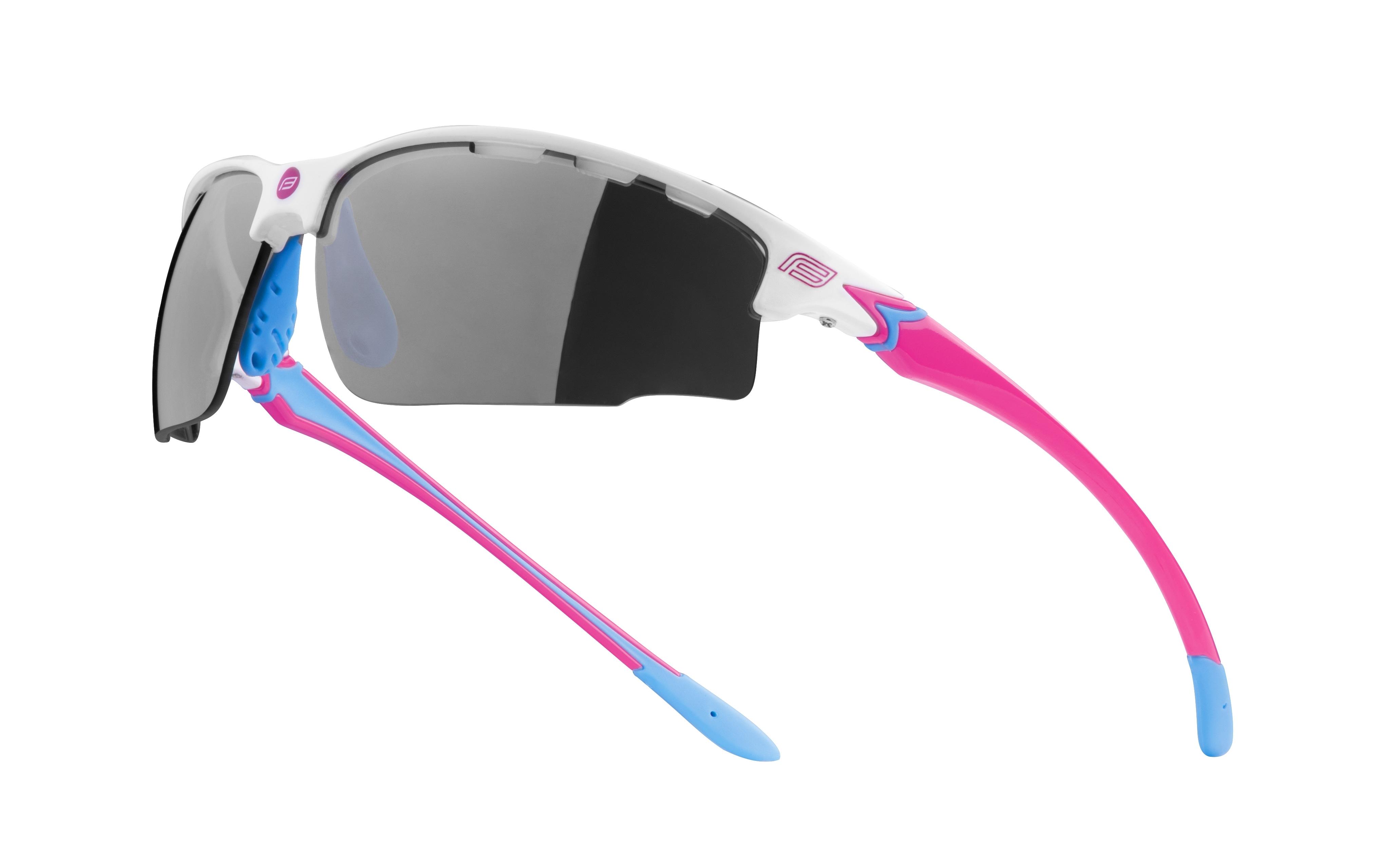 brýle FORCE QUEEN bílo-růžové, černá laser skla