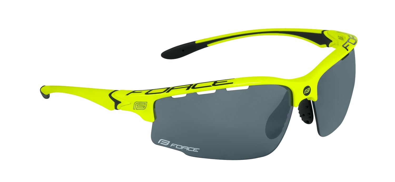 brýle FORCE QUEEN, fluo-černé, černá laser skla