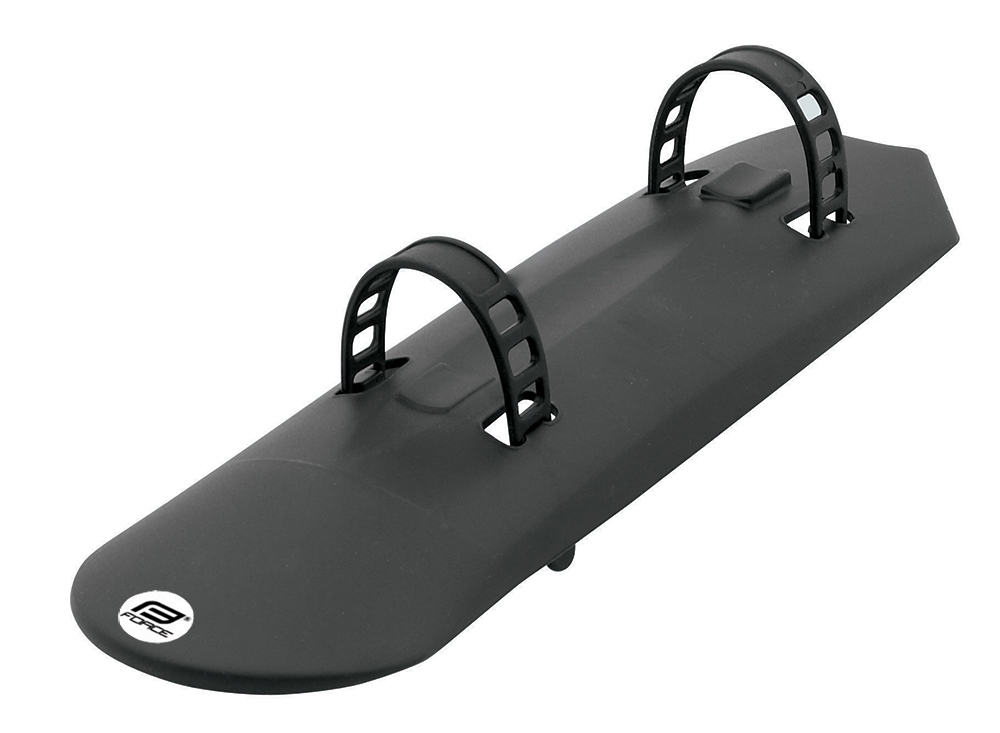 blatník FORCE plast pod rám + gumový úchyt, černý