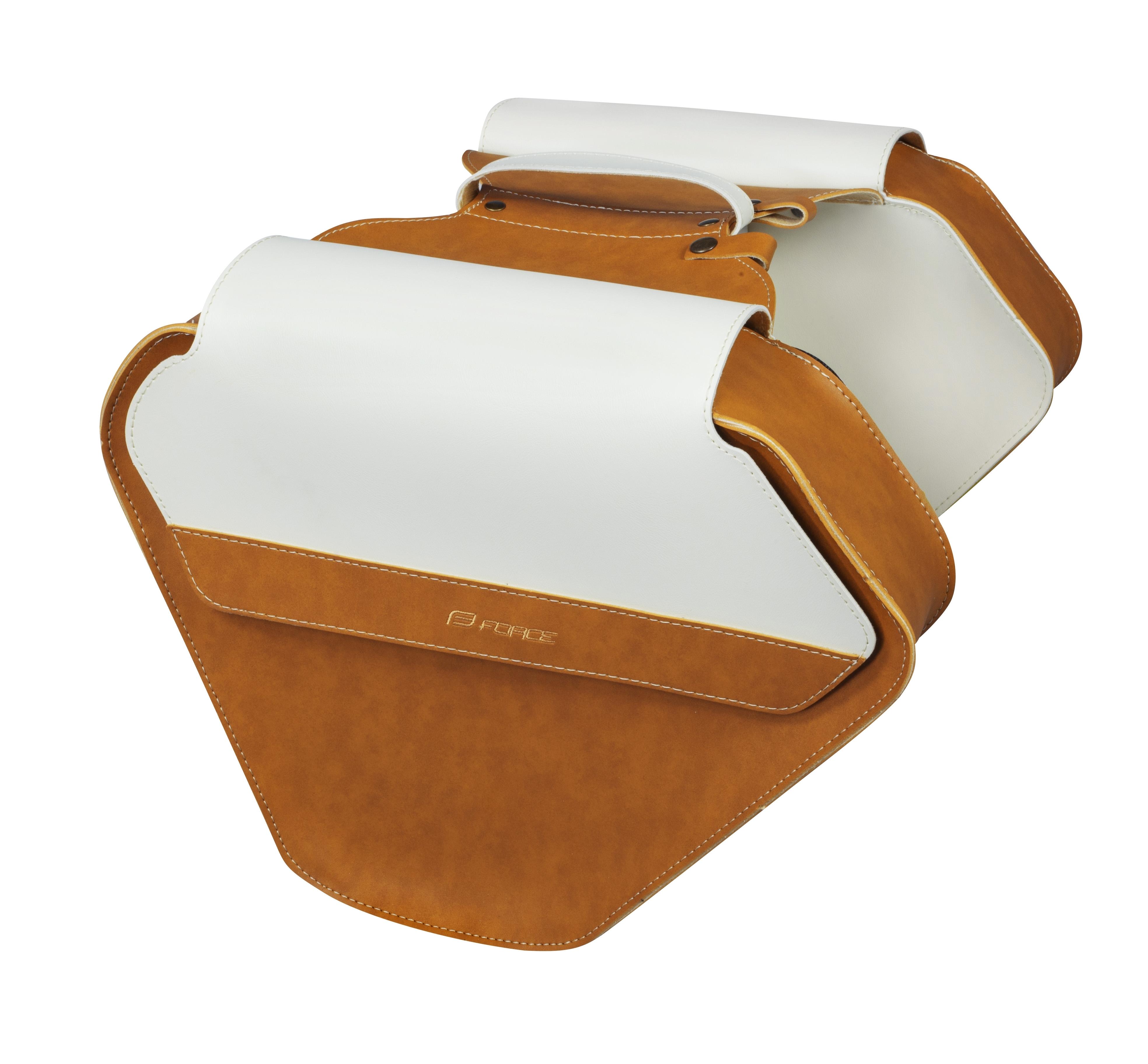 brašna zadní FORCE BRISTOL retro, hnědo-bílá
