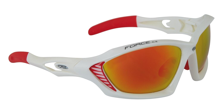 brýle FORCE MAX bílé, červená laser skla