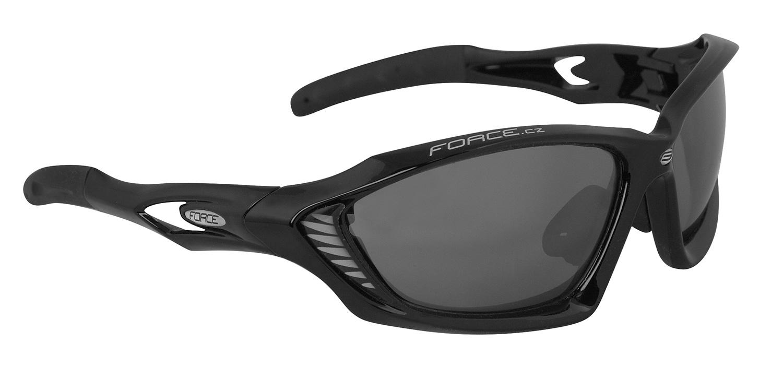brýle FORCE MAX černé, černá laser skla