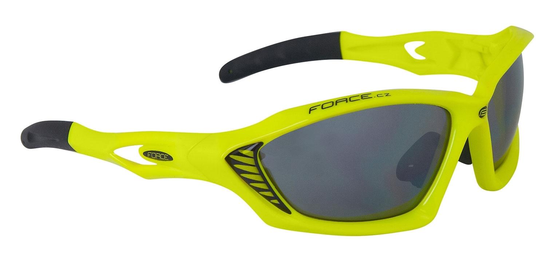 brýle FORCE MAX fluo, černá laser skla