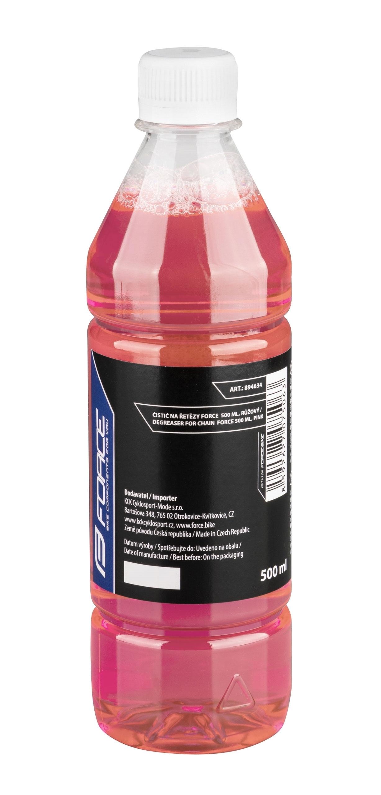 čistič FORCE na řetězy 500 ml, láhev        růžový