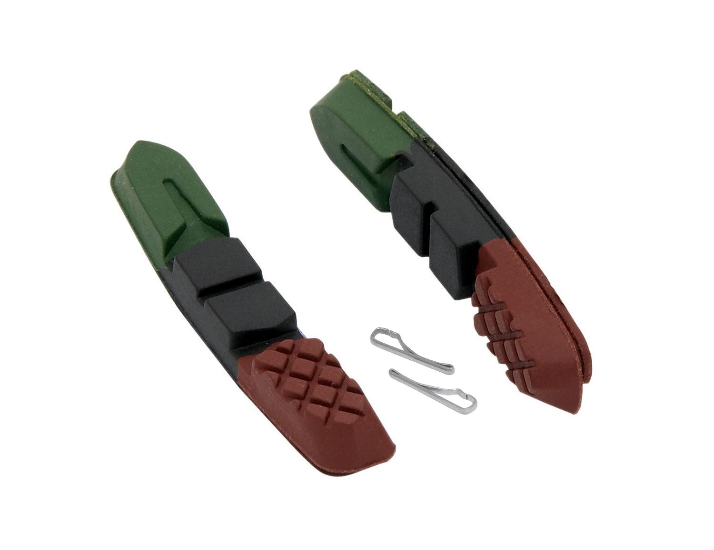 gumičky brzd F náhradní, zeleno-černo-hnědé 70mm